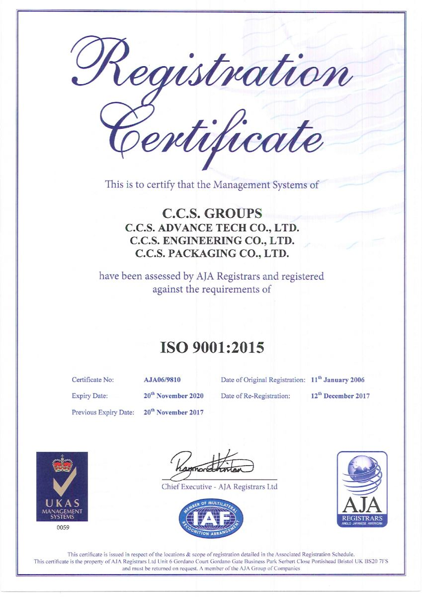 Iso 90012015 Certification Accreditations Ccs Groups
